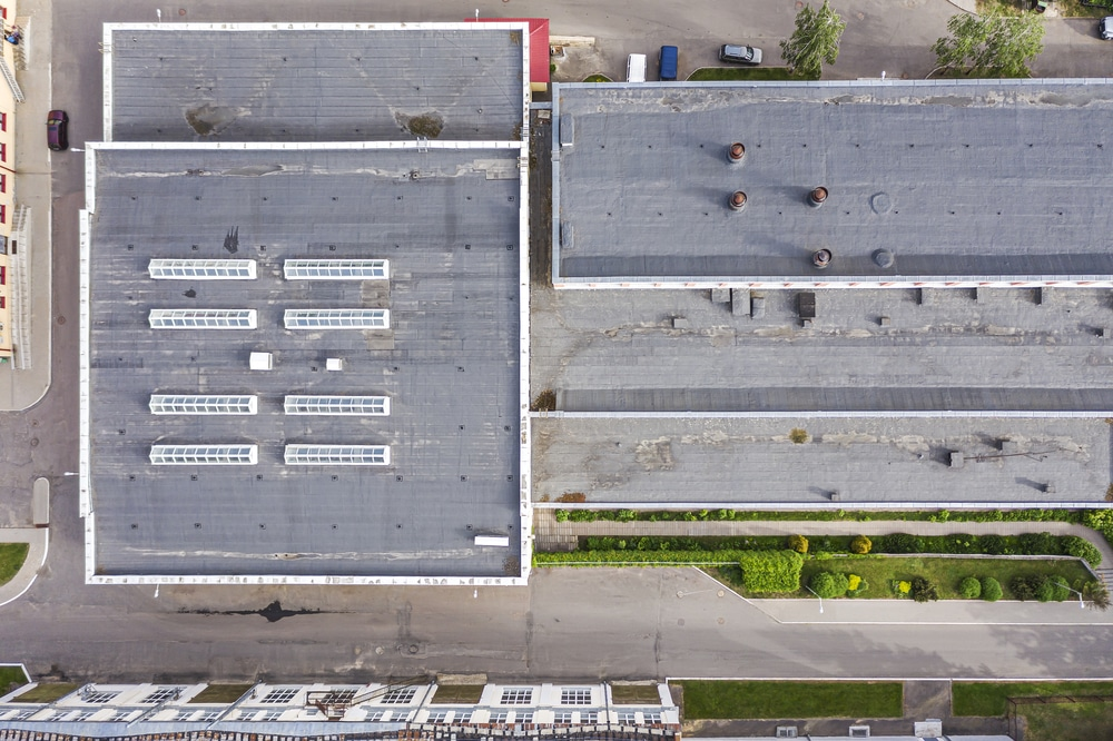 Commercial asphalt roof