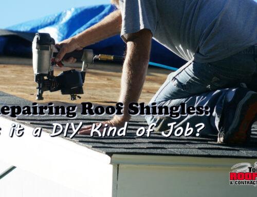 Is Repairing Roofing Shingles A DIY Job?