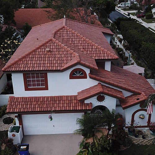 home roof aerial view